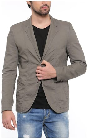 Showoff Solid Casual Men's Blazer (Olive)