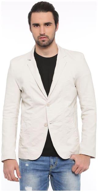 Showoff Solid Casual Men's Blazer (Cream)