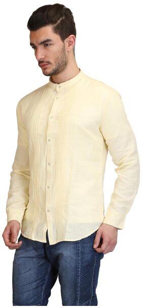 Showoff Yellow Linen Shirt
