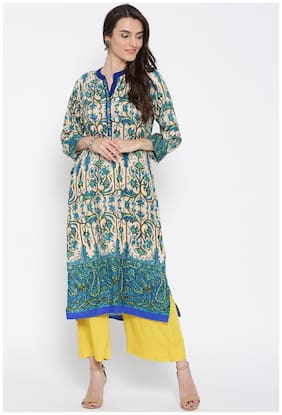 Shree Beige & Blue Kurta