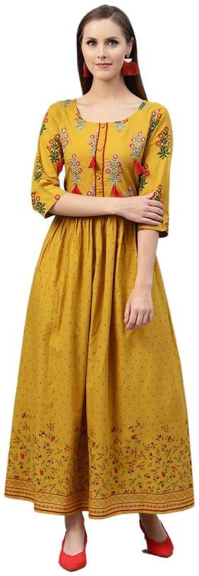 Women Floral A-Line Kurti Dress