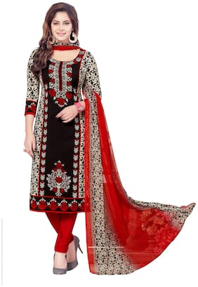 Shree Jeen Mata Collection 2158 Blackcolour Synthettic Chudidar And Patiyala  Dress Material