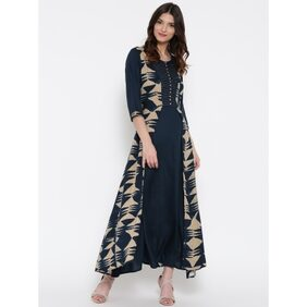Shree Navy & Beige Dress
