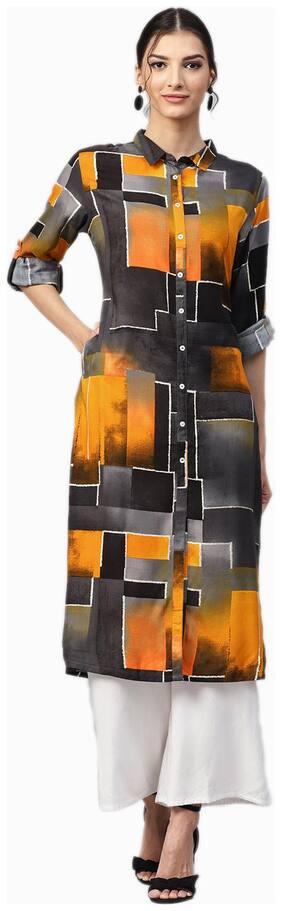Women Abstract A-Line Kurta