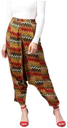 Rayon Printed Harem Pants