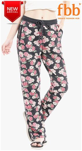 Shyla Floral Print Women's Black Lounge Pants