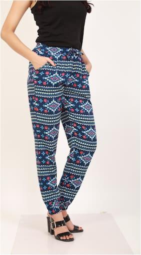 Shyla Printed Womens Blue Pyjama