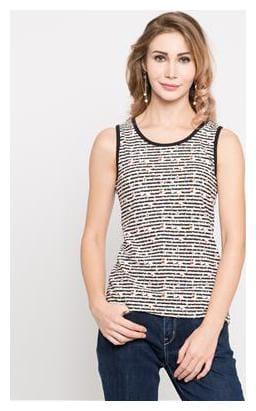 Shyla Women Cotton Solid - A-line top Black