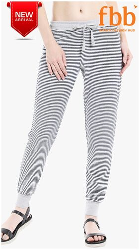 Shyla Stripes Knitted Women's Grey Pyjamas