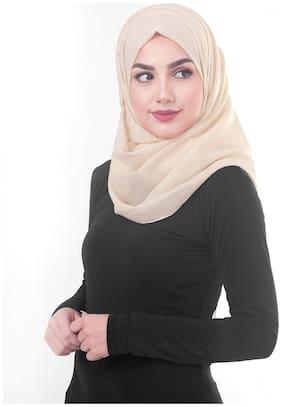 SILK ROUTE LONDON Women Rayon Solid Hijaab Beige