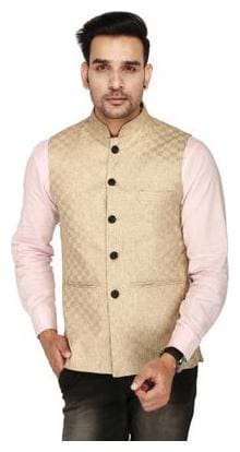 SINGHAL FASHION CHECK JACKET BROWN