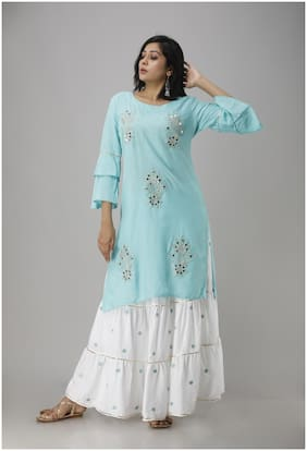 Singni Party Wear Kurta With Skirt For Women And Girls