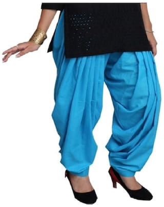 Sizzlacious Cotton Patiala - Blue