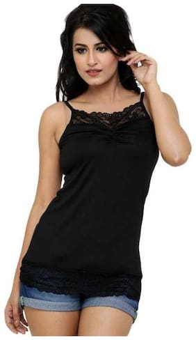 Sizzlacious Womens & Girls Lace Camisoles Black