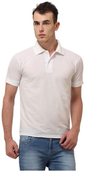 Men Polo Collar Solid T-Shirt Pack Of 1