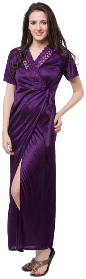 Women Solid Nightdress ,Pack Of 1