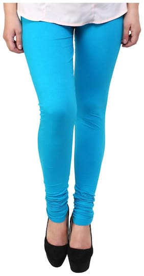 Sizzlacious - Ladies Full Length Lycra Legging Blue