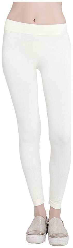Sizzlacious Solid Tights - White