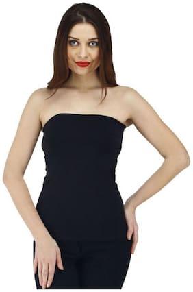 Women Solid Sweetheart Neck Top