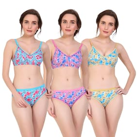 3cfa2eac7c6c8 Sk Dreams Printed Bikini Brief T-shirt Bra Lingerie Set - Multi. 509  approx. Compare