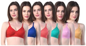 Solid Non Padded Pack of 6