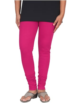 Skandas Trendz Cotton & Lycra Leggings - Pink