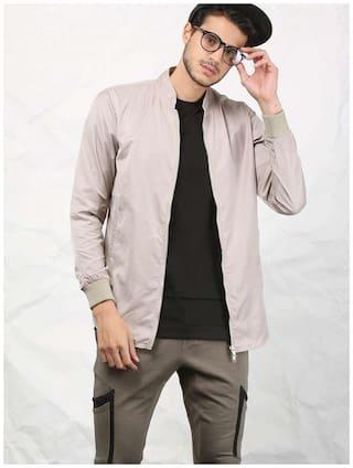 SKULT by Shahid Kapoor Men Polyester Jacket - Beige