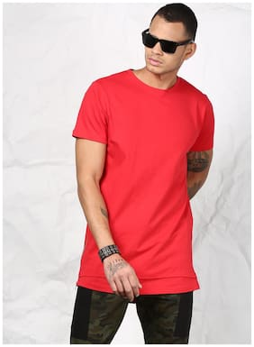 SKULT by Shahid Kapoor Men Round neck Sports T-Shirt - Red