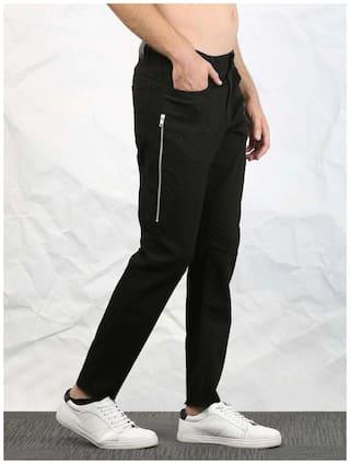SKULT by Shahid Kapoor Men Cotton Track Pants - Black