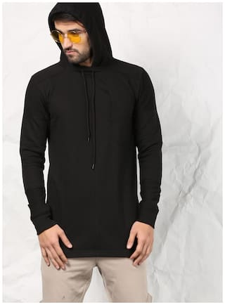 SKULT by Shahid Kapoor Men Blended Sweatshirt - Black