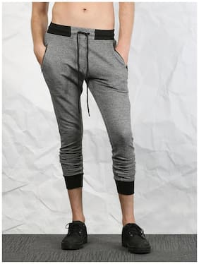 SKULT by Shahid Kapoor Men Grey & Black Joggers
