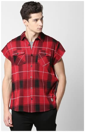 SKULT by Shahid Kapoor Men Slim Fit Casual shirt - Red