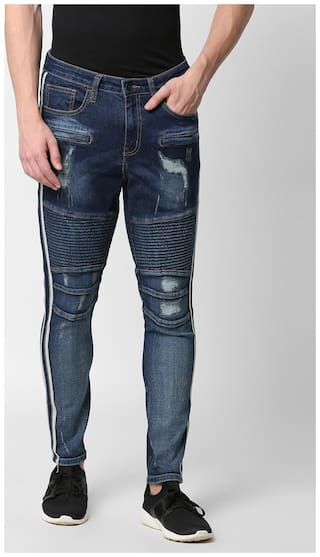 SKULT by Shahid Kapoor Men Blue Skinny Fit Jeans