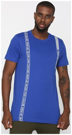 SKULT by Shahid Kapoor Men Round neck Sports T-Shirt - Blue