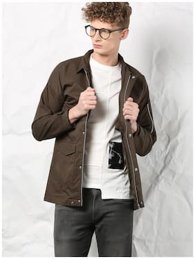Men Solid Cotton Ethnic Jacket