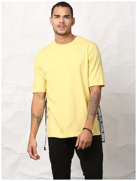 SKULT by Shahid Kapoor Men Round neck Sports T-Shirt - Yellow