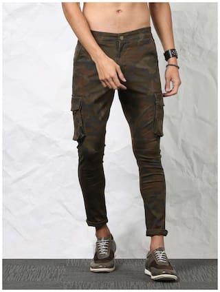 SKULT by Shahid Kapoor Men Cotton Track Pants - Green