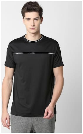 SKULT by Shahid Kapoor Men Round neck Sports T-Shirt - Black