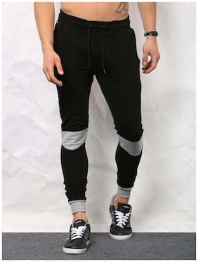 SKULT Men Black & Grey Slim Fit Joggers