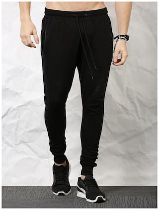 SKULT by Shahid Kapoor Men Cotton blend Track Pants - Black