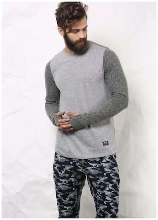 SKULT by Shahid Kapoor Men Grey Regular fit Sports T-Shirt