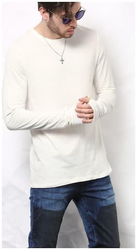 SKULT by Shahid Kapoor Men Round neck Sports T-Shirt - White