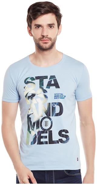 Duke Men Grey Regular fit Cotton Round neck T-Shirt - Pack Of 1