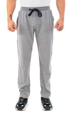SKYBEN Men Grey Solid Regular fit Track pants
