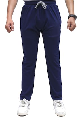 SKYBEN Men Blue Solid Regular fit Track pants