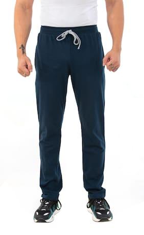 SKYBEN Men Blue Solid Regular fit Track pants