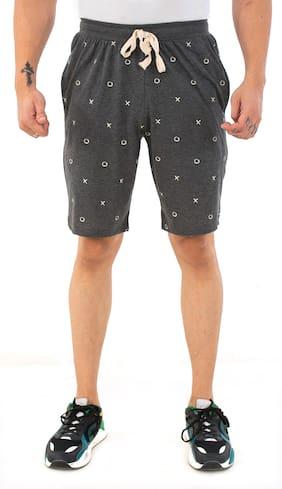 SKYBEN Men Grey Regular Fit Regular Shorts