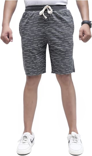 SKYBEN Men Grey Regular Fit Regular Shorts