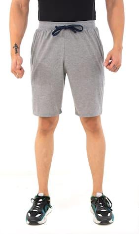 Men Solid Regular Shorts Pack Of 1