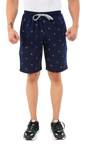 SKYBEN Men Navy Blue Regular Fit Regular Shorts